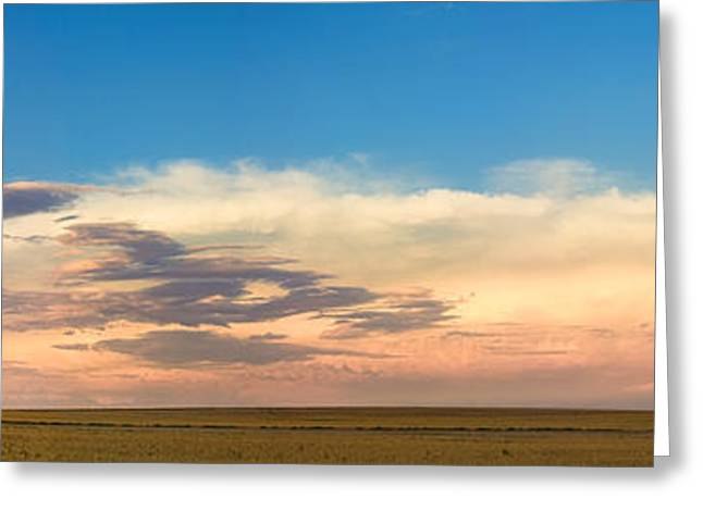 Thunderstorm Greeting Cards - Leading Edge Storm Front and Moon Panorama Greeting Card by James BO  Insogna