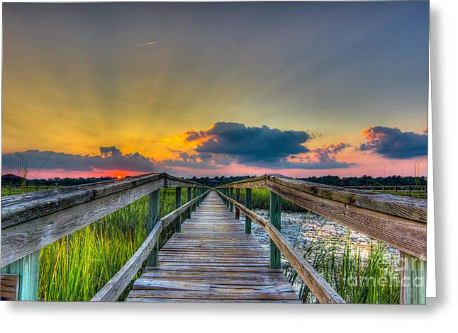 Hdr Landscape Greeting Cards - Leading Lines Greeting Card by Matthew Trudeau