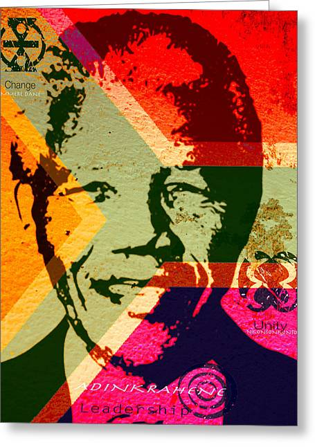 Politics Prints Digital Art Greeting Cards - Leading the Way Greeting Card by Kandy Hurley