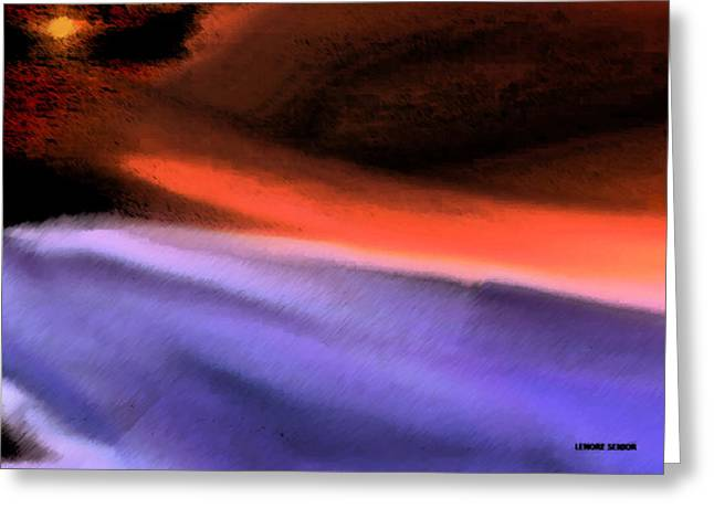 Purple Abstract Greeting Cards - Leading the Way Greeting Card by Lenore Senior
