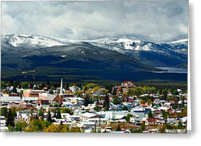 Mt. Massive Greeting Cards - Leadville Autumn Panorama Greeting Card by Jeremy Rhoades
