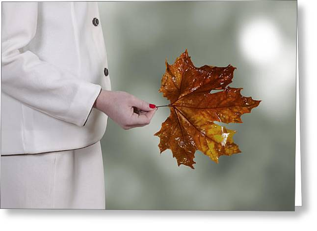 leaf Greeting Card by Joana Kruse