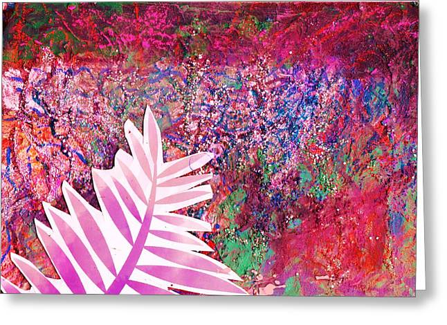 Leaf Of My Imagination  Greeting Card by Anne-Elizabeth Whiteway