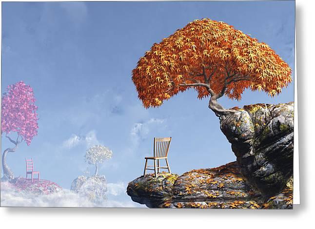 Leaf Peepers Greeting Card by Cynthia Decker