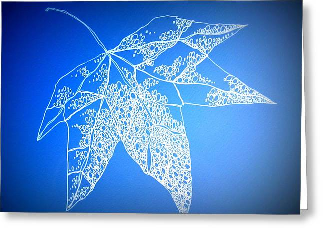 Catherine White Greeting Cards - Leaf Study 4 Greeting Card by Cathy Jacobs