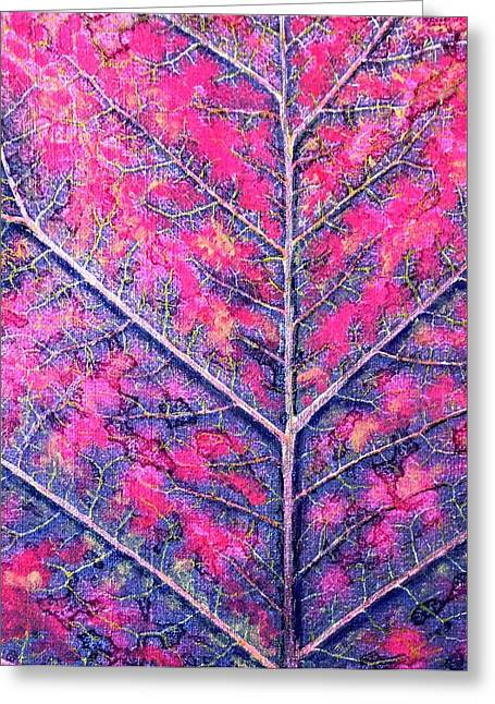 Fall Colors Pastels Greeting Cards - Leafs Last Breath Greeting Card by Cara Frafjord