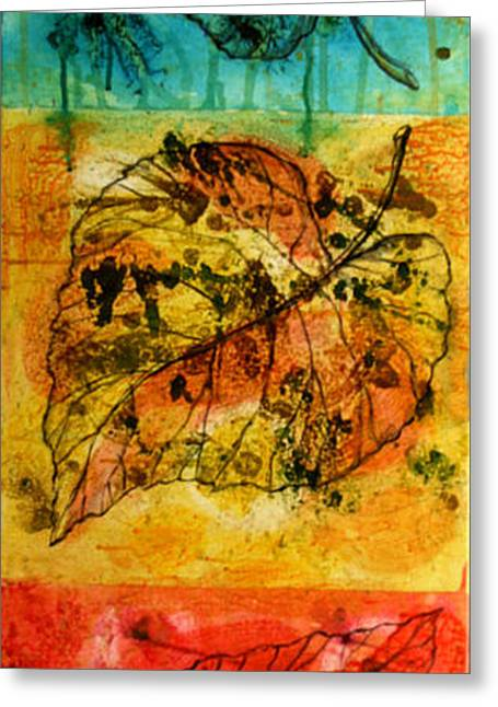 Organic Greeting Cards - Leafs Greeting Card by Leon Zernitsky