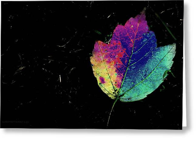 Inverted Color Greeting Cards - Leafy 2 Greeting Card by Kathy Barney