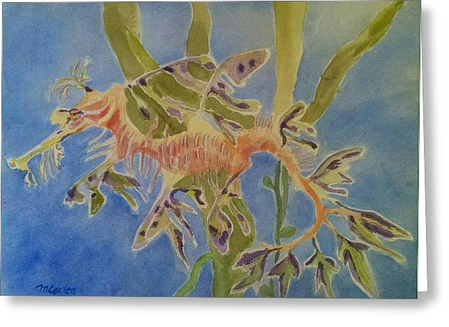 Leafy Sea Dragon Greeting Cards - Leafy Sea Dragon Greeting Card by M Carlen