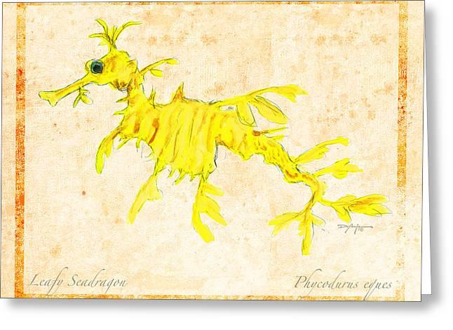 Leafy Sea Dragon Greeting Cards - Leafy Seadragon Greeting Card by William Depaula