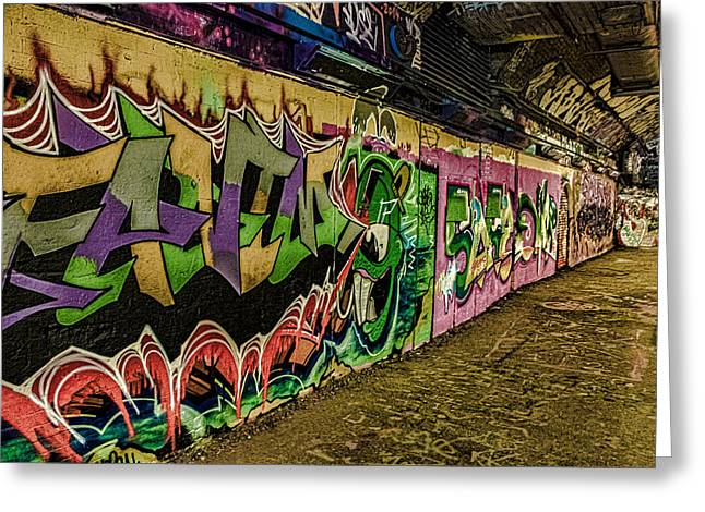 Streetphotography Greeting Cards - Leake Street London Greeting Card by Martin Newman