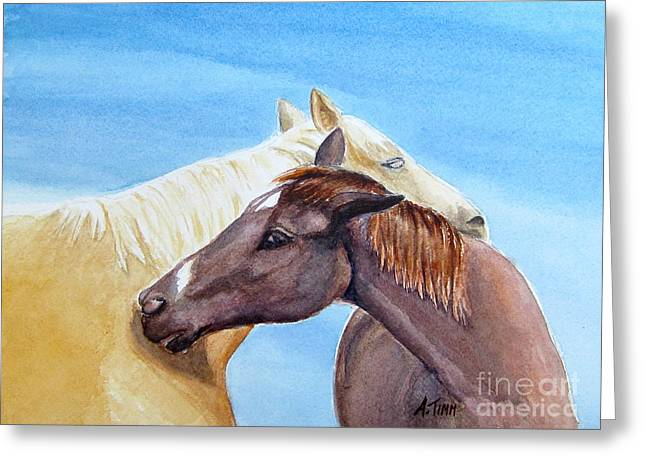 Andrea Timm Greeting Cards - Lean on Me Greeting Card by Andrea Timm