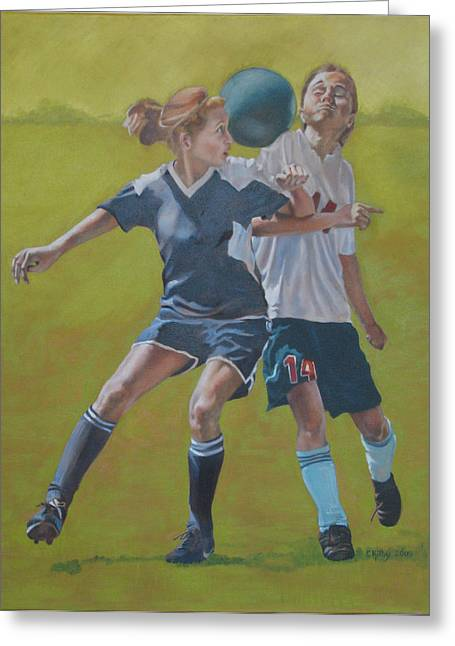 Sports Ceramics Greeting Cards - Leaning Greeting Card by Claudia Kilby