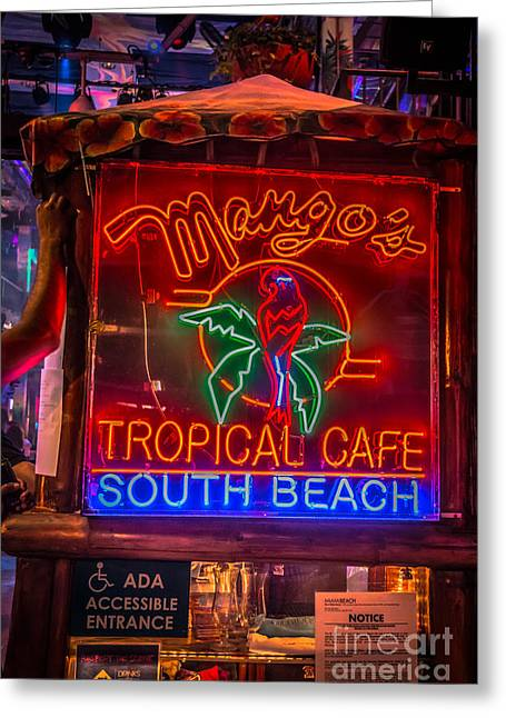 1930s Greeting Cards - Leaning on Mangos South Beach Miami - HDR Style Greeting Card by Ian Monk