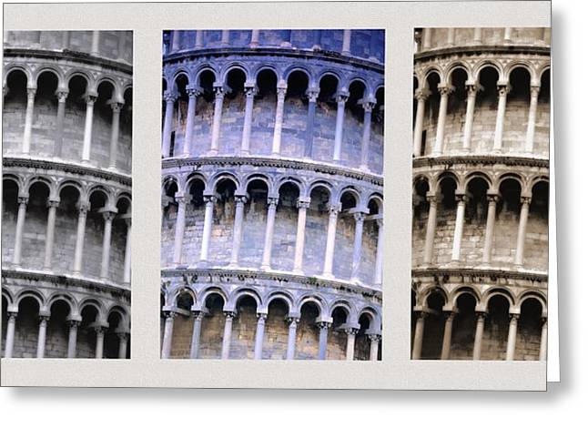 Leaning Tower Of Pisa Greeting Card by Carson Ganci