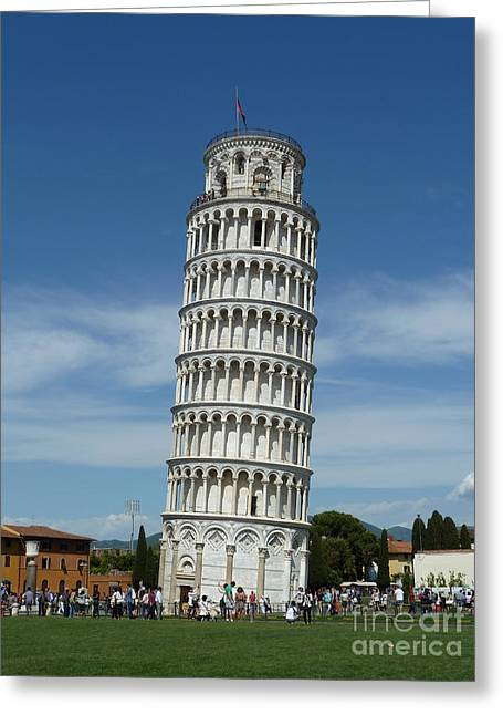 Faa Featured Greeting Cards - Leaning Tower of Pisa Greeting Card by Zori Minkova