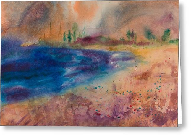Wet Into Wet Watercolor Greeting Cards - Leann on the Beach Greeting Card by Brook Powell