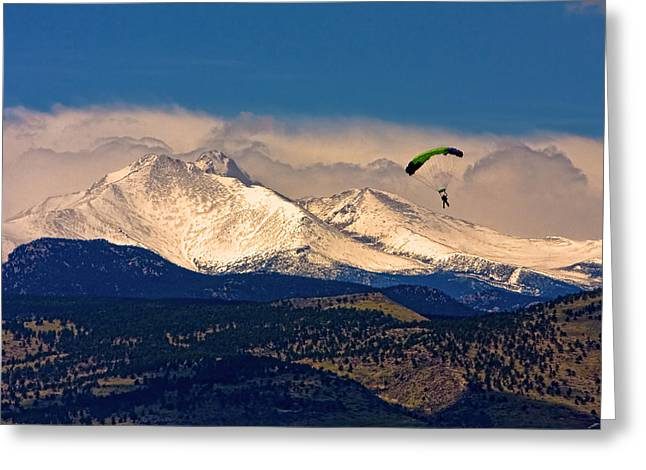 Longmont Greeting Cards - Leap of Faith Greeting Card by James BO  Insogna