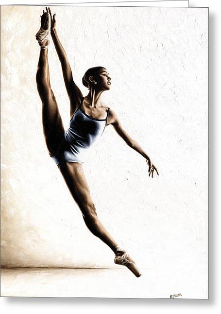 Ballerina Greeting Cards - Leap of Faith Greeting Card by Richard Young