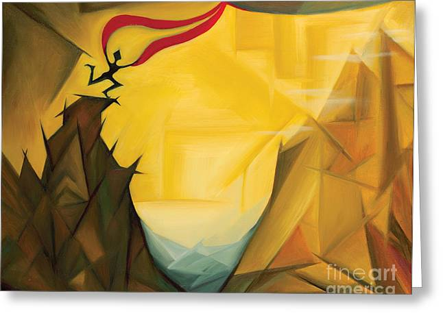 Leap Of Faith Greeting Card by Tiffany Davis-Rustam