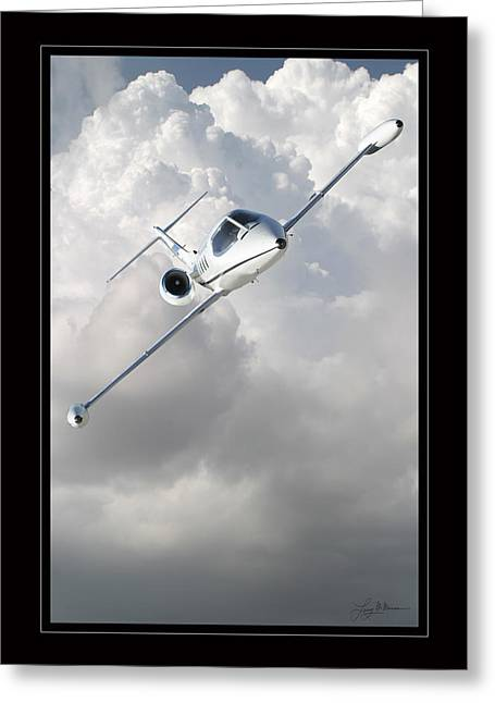 Airplane Art Framed Prints Greeting Cards - Learjet Greeting Card by Larry McManus
