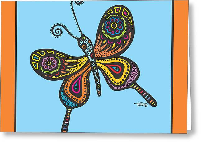 Pen And Ink Drawing Greeting Cards - Learning to Fly Greeting Card by Tanielle Childers
