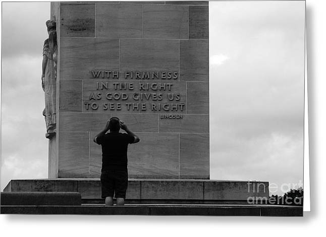 Learning From Lincoln Greeting Card by James Brunker