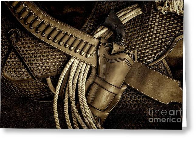 Jon Burch Photography Greeting Cards - Leather and Lead Greeting Card by Jon Burch Photography