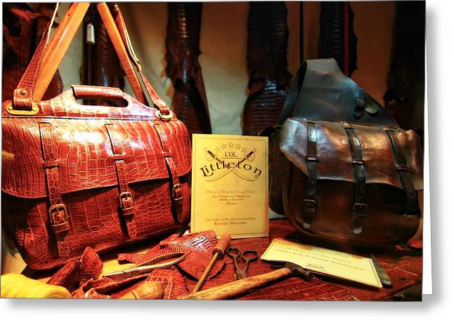 Organizer Greeting Cards - Leather Bags And Fashion Greeting Card by Dan Sproul