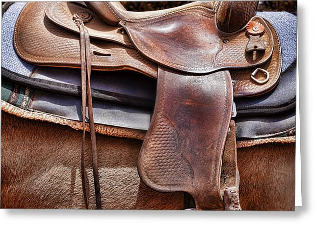 Leather Greeting Card by Kelley King