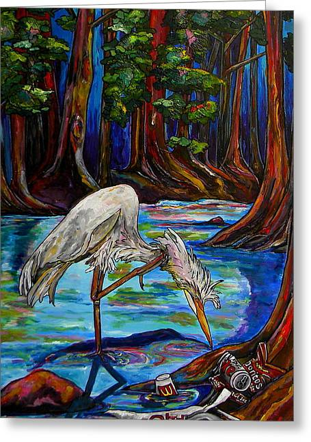Nature Center Greeting Cards - Leave Only Footprints Greeting Card by Patti Schermerhorn