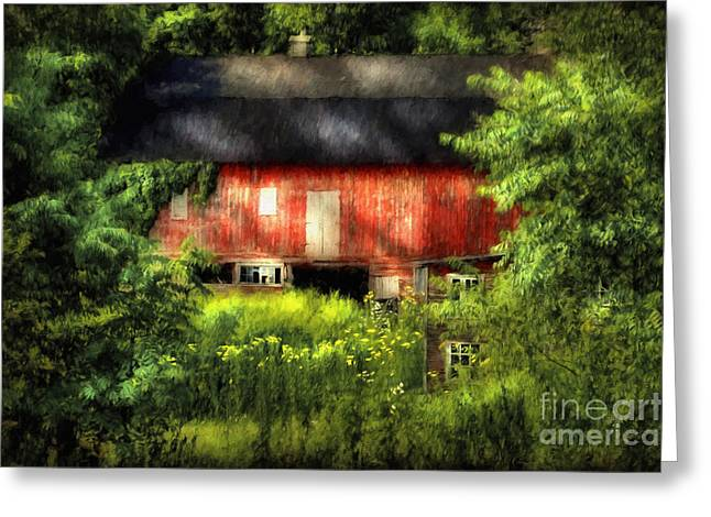 Pa Barns Greeting Cards - Leave Our Farms Greeting Card by Lois Bryan