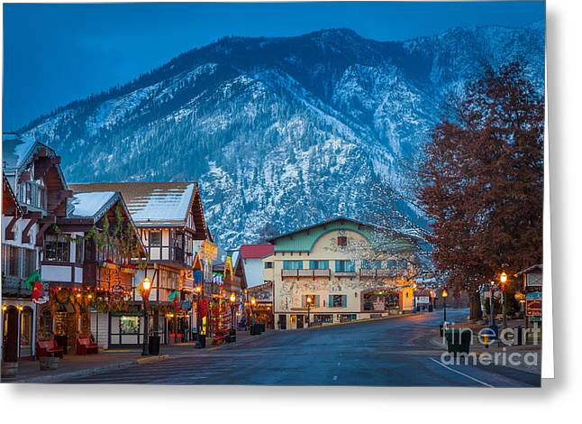 Leavenworth Greeting Cards - Leavenworth Alpine View Greeting Card by Inge Johnsson