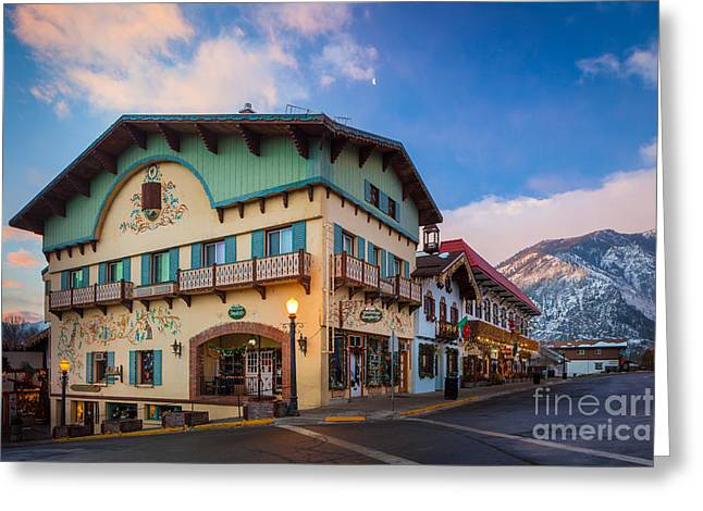Leavenworth Greeting Cards - Leavenworth Alps Greeting Card by Inge Johnsson