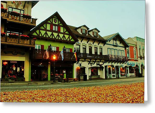 Leavenworth Greeting Cards - Leavenworth Autumn Greeting Card by Benjamin Yeager