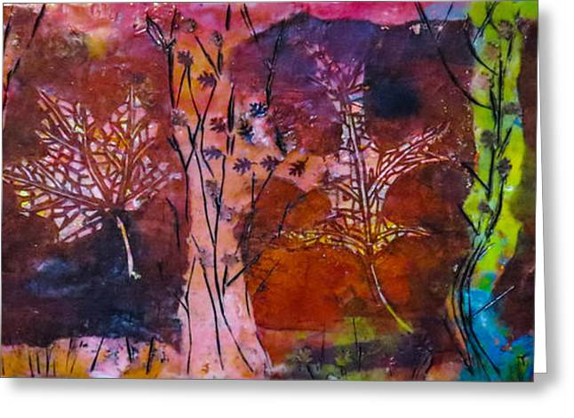 Incised Greeting Cards - Leaves And Trees Greeting Card by Marcia Lara