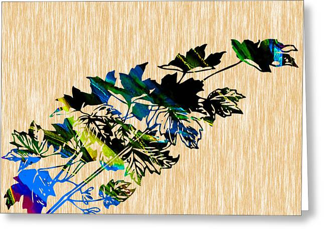 Autumn Photographs Mixed Media Greeting Cards - Leaves Art Greeting Card by Marvin Blaine
