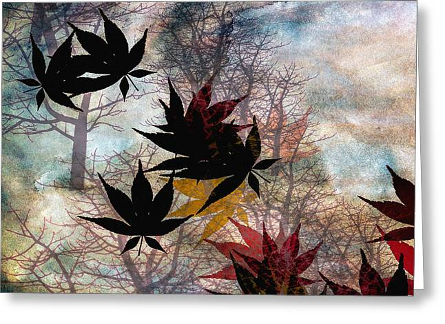 Bob Orsillo Mixed Media Greeting Cards - Leaves Greeting Card by Bob Orsillo