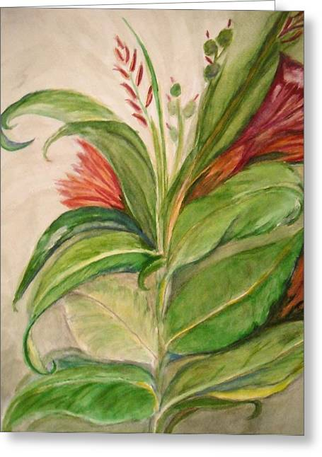 Marian Hebert Greeting Cards - Leaves hiding Flowers Greeting Card by Marian Hebert