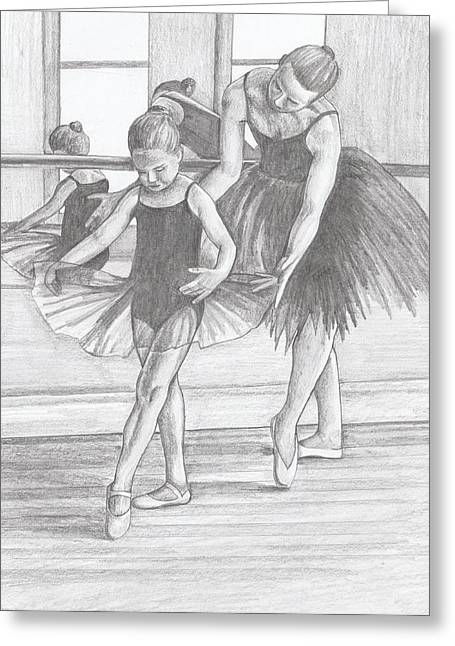 Ballet Dancers Drawings Greeting Cards - Leaving a Legacy Greeting Card by Beverly Marshall