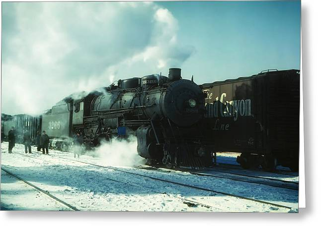 Rail Line Greeting Cards - Leaving Chicago 1943 Greeting Card by Mountain Dreams