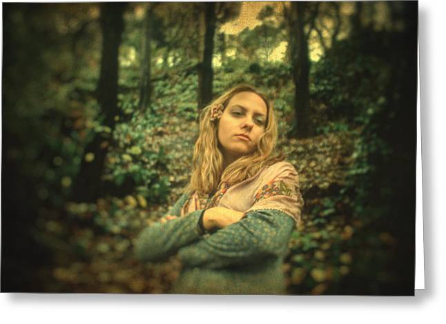 Posters Of Women Photographs Greeting Cards - Leaving eden Greeting Card by Taylan Soyturk