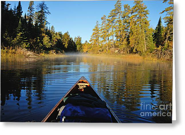 Boundary Waters Greeting Cards - Leaving Jordan Lake Greeting Card by Larry Ricker