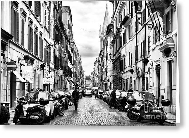 Interior Scene Greeting Cards - Leaving Popolo Greeting Card by John Rizzuto
