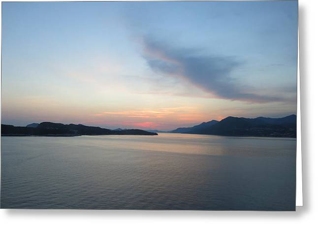 Italian Sunset Greeting Cards - Leaving Port at Sunset Greeting Card by Jean Macaluso