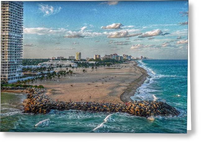 Atlantik Greeting Cards - Leaving Port Everglades Greeting Card by Hanny Heim