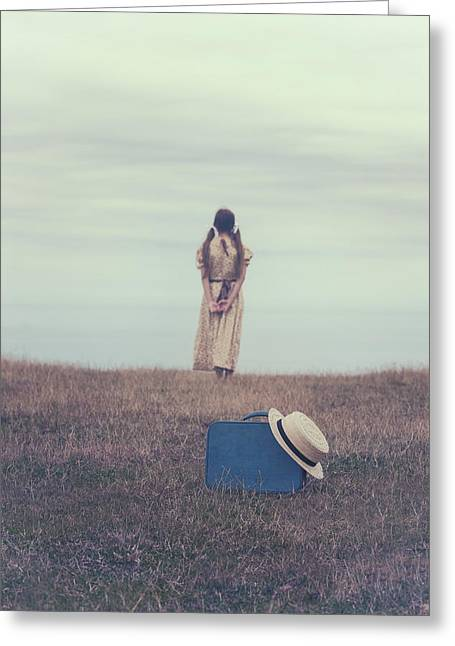 Pensive Greeting Cards - Leaving The Past Behind Me Greeting Card by Joana Kruse