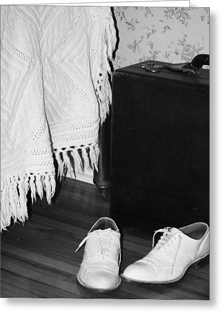 White Shoes Greeting Cards - Leaving Vegas  Greeting Card by Jerry Cordeiro
