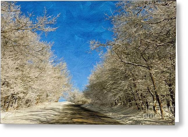 White Knob Mountains Greeting Cards - Leaving Winter Behind Greeting Card by Lois Bryan