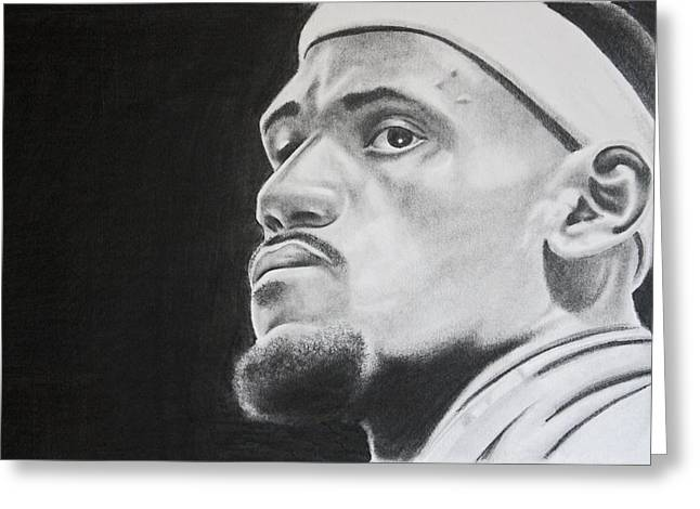 Best Sellers -  - Don Medina Greeting Cards - LeBron Greeting Card by Don Medina